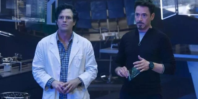 science bros tony stark bruce banner