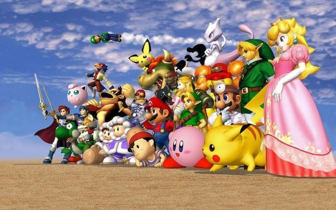 smash melee &quot;title =&quot; smash melee &quot;height =&quot; 409 &quot;width =&quot; 655 &quot;class =&quot; 40 &quot;data-item =&quot; 1153580 &quot; /&gt;    <figcaption> (Photo: Nintendo) </figcaption></figure> <p>  In 2001, one of the greatest games ever released: <em> Super Smash Bros. Melee </em> for Nintendo GameCube Almost 18 years later, and people are still playing to the platform fighter: both casually and competitively </p> <p>  That said, at this moment everyone can talk about <em> Super Smash Bros. Ultimate </em> and rightly so, it&#39;s phenomenal &#821<div class=