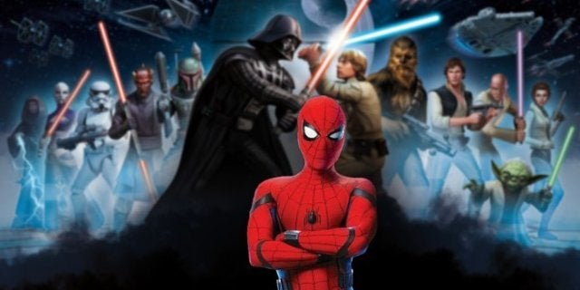 Spider-Man  Far From Home Star Wars Sam Jackson Nick Fury Windu