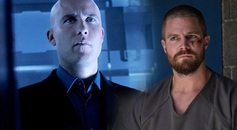 stephen amell arrow michaeal rosenbaum smallville