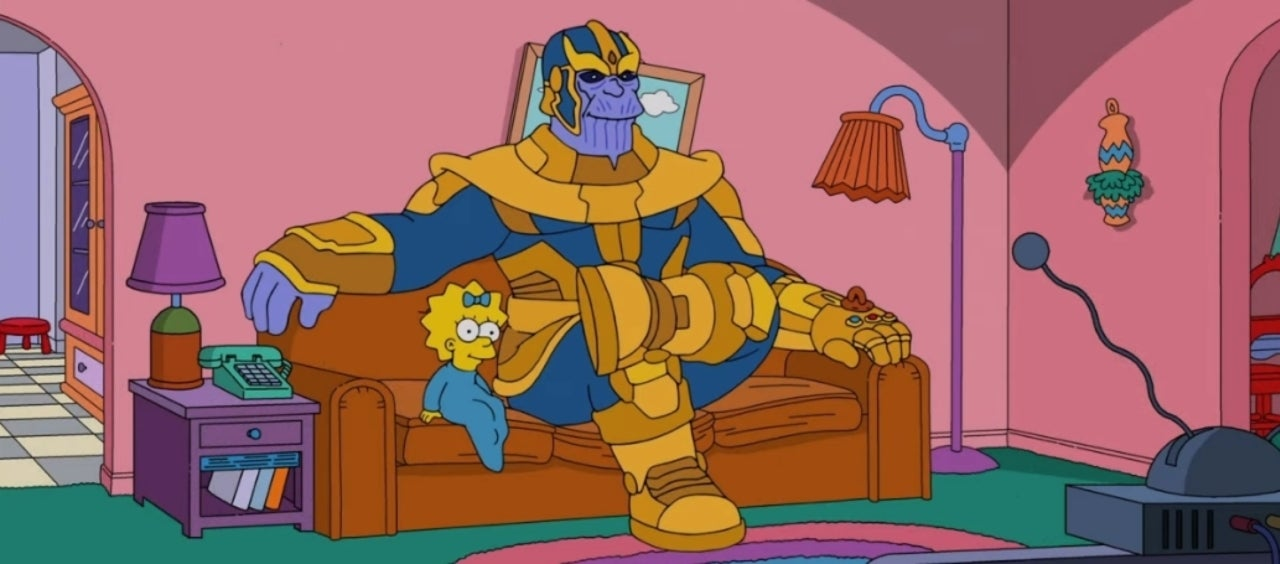 'Avengers' Villain Thanos Dusts 'The Simpsons'