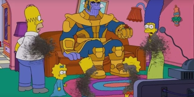 Thanos Creator Comments on the Simpsons Getting Dusted by the 'Avengers' Villain