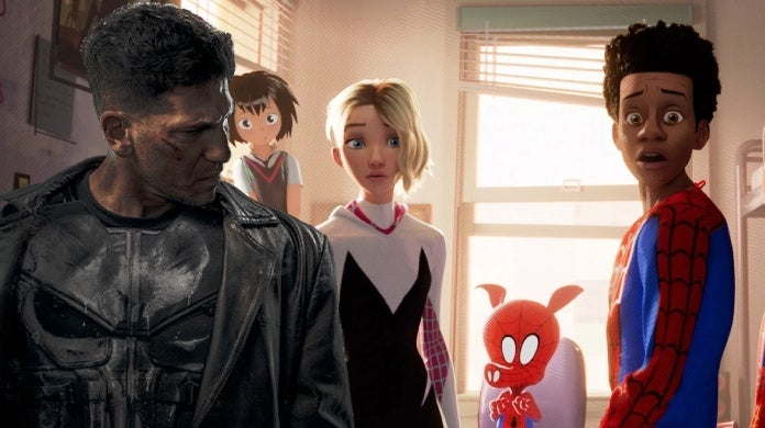 the punisher spider man into the spider verse