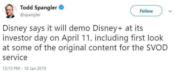 todd spangler disney plus tweet