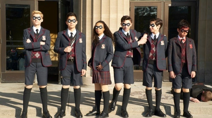 umbrella academy production still