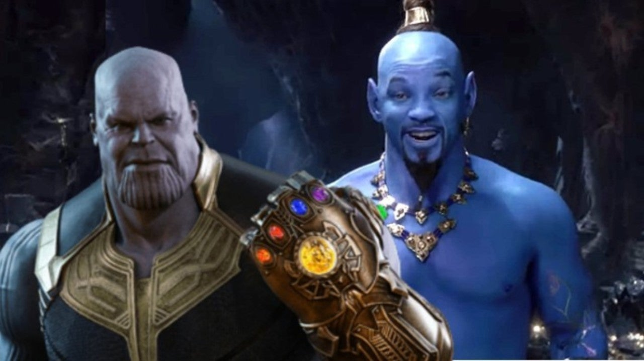 Will Smith S Genie Gets Reimagined As Avengers Villain Thanos