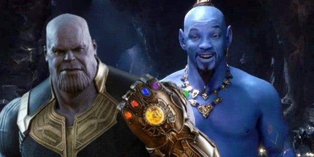 Aladdin Will Smith Genie Thanos Meme