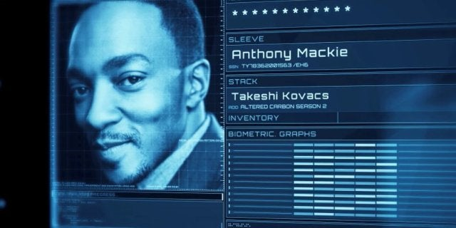 Altered Carbon Season 2 Cast - Anthony Mackie is Takeshi Kovacs