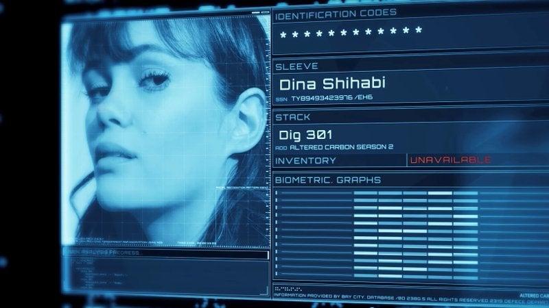 Altered Carbon Season 2 Cast - Dina Shihabi as Dig 301