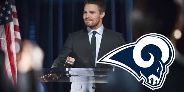 arrow stephen amell rams super bowl