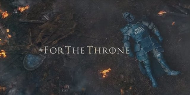 Bud Light Super Bowl 2019 Ad Game Thrones