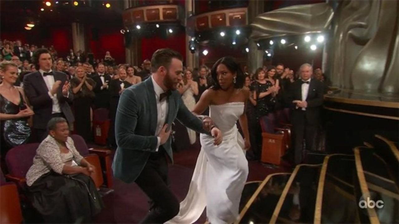 Chris Evans Is Real Life Captain America at Oscars