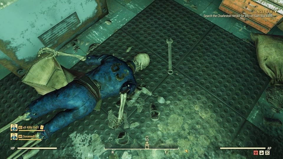 "Fallout 76 Vault 63 Bethesda Skeleton Vault Suit ""title ="" Fallout 76 Vault 63 Bethesda Skeleton Vault Suit ""height = ""</figcaption> </figure> <p>  After the players were banned when they entered the entertainment room in <em> Fallout 76 <em> [Photo: Reddit]</em> others have taken West Virginia have tried to be more cautious in their travels but one of the players accidentally found a way in the sealed Vault 63, which made them ""very good"" ask Bethesda not to forbid them. </p> <p><em>  Fallout 76 </em> subreddit, user McStaken shared his story of an accidental stumbling in the sealed vault. According to them, they were thrown into Vault 63 ""while they were doing a Rad-Rat Horde event."" out of the vault, they headed for Reddit to share some snapshots of the confined space and prayed to Bethesda not to be banned Ned. They even discovered a nuclear reactor. </p> <figure class="