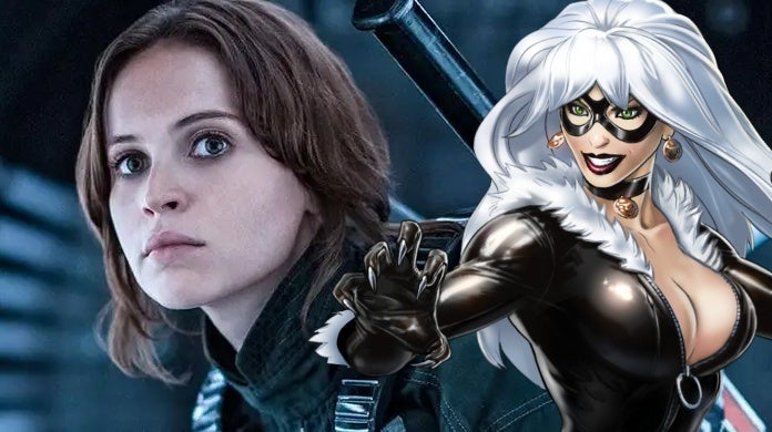 felicity jones black cat