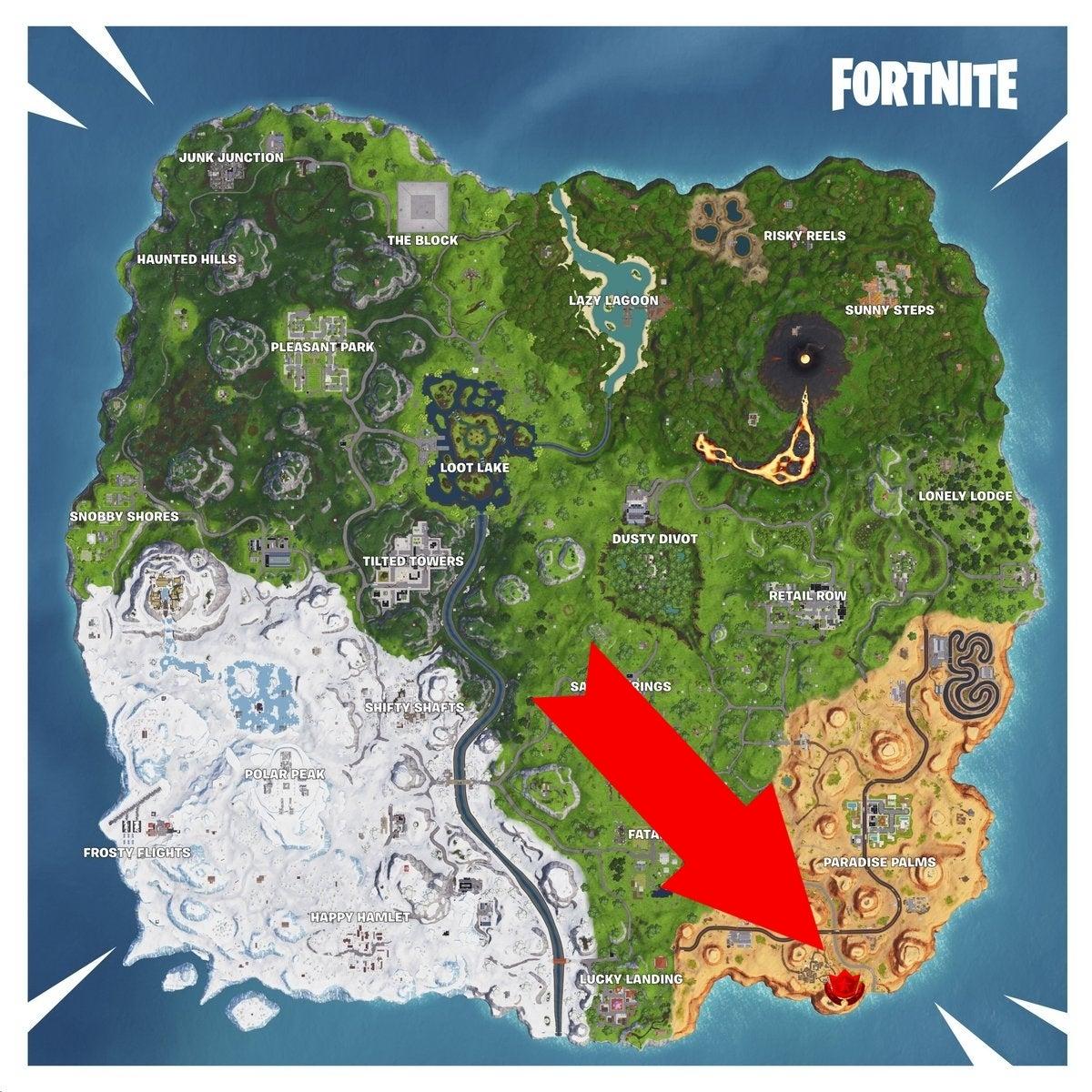 fortnite map 1 - fortnite visit a giant face map