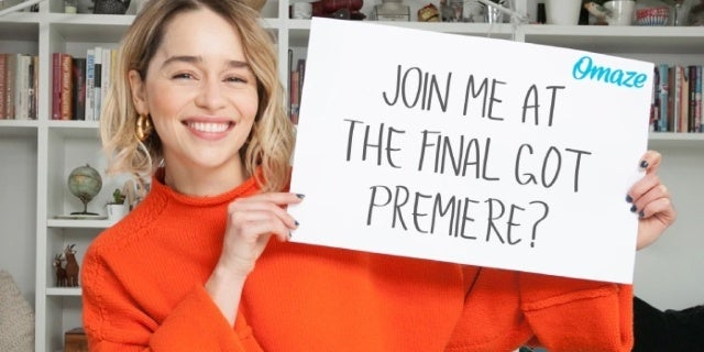 game of thrones emilia clarke omaze campaign