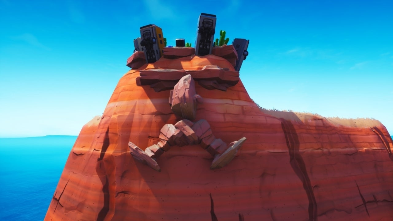 fortnite how to complete the visit a giant face in the desert the jungle and the snow challenge - visit face in snow fortnite