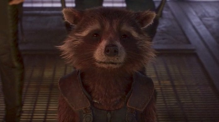 Guardians Galaxy Oreo Raccoon Rocket Model Dead