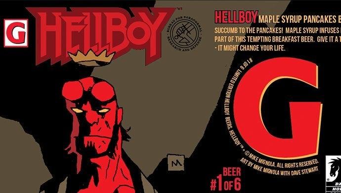 hellboy beer label
