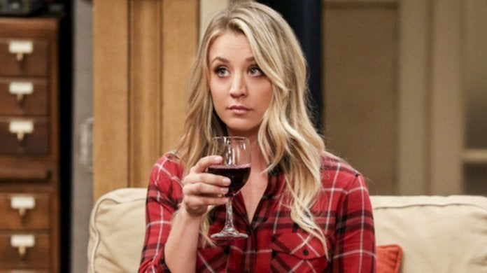 kaley cuoco big bang theory wine