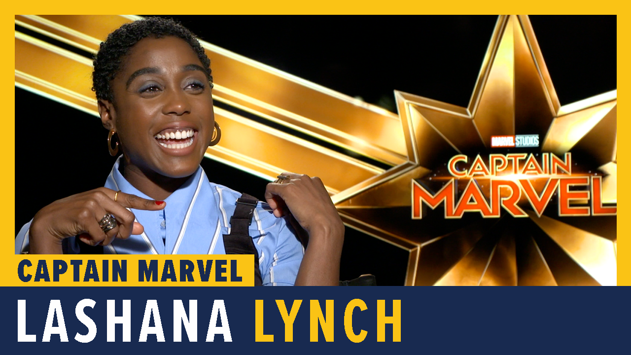 Lashana Lynch Talks 'Captain Marvel' screen capture