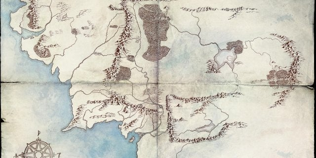 Lord Rings TV Series Middle-earth map Amazon Prime
