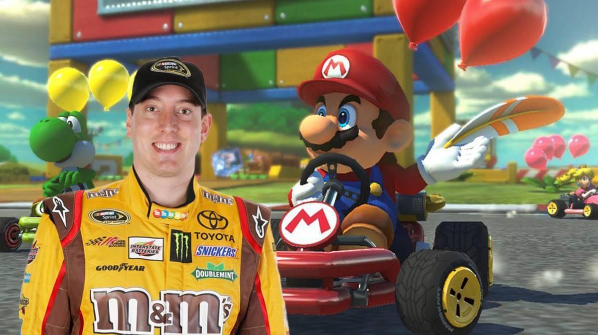 Mario Kart Nintendo Kyle Busch NASCAR