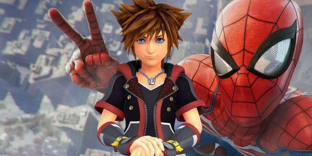Marvel's Spider-Man Kingdom Hearts III Sora