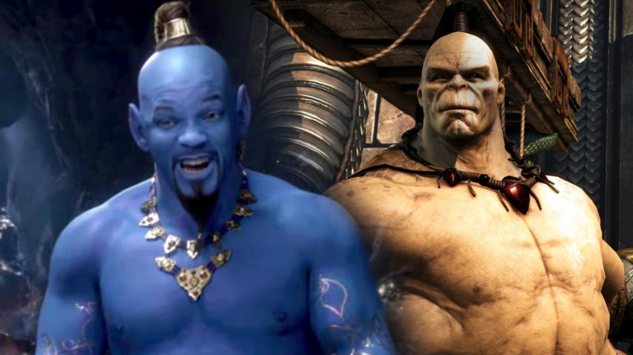 Mortal Kombat Fans Can T Stop Comparing Aladdin S Genie To Goro