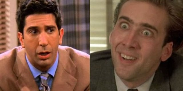 Nic Cage David Schwimmer Face Swap Viral Image