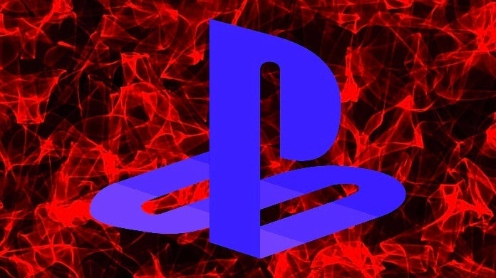playstation logo blue red background