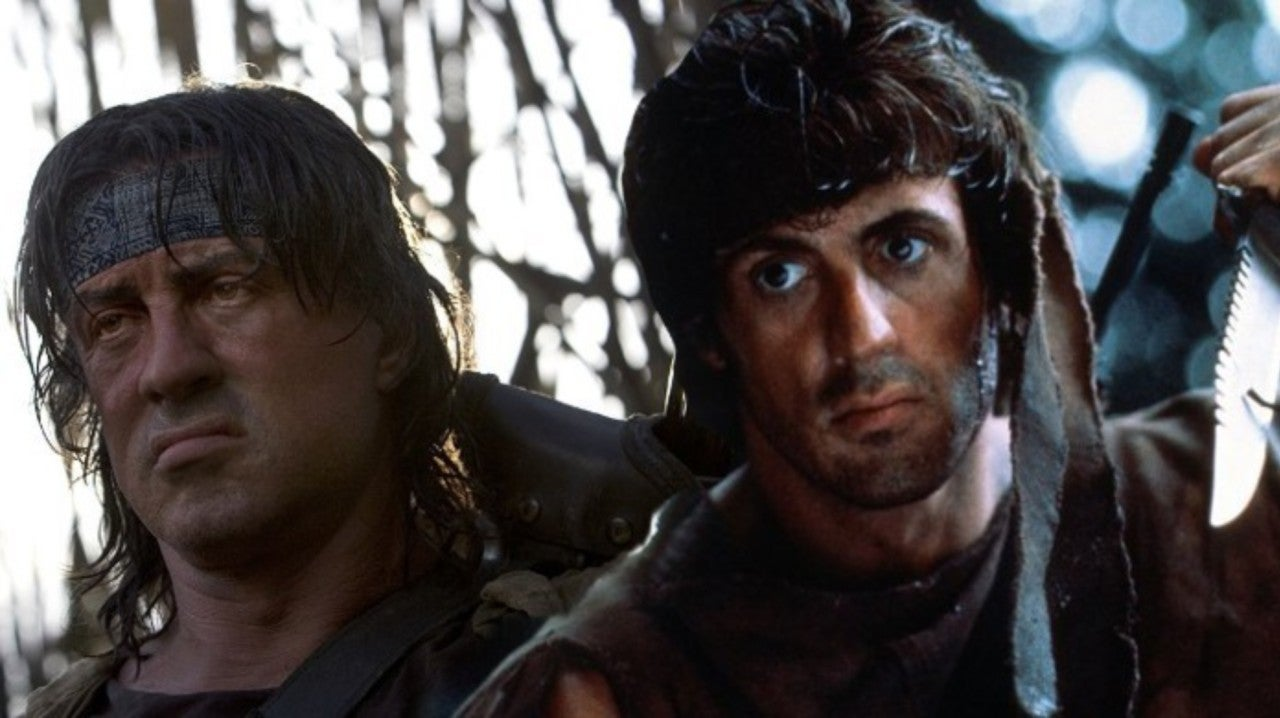 The classic Rambo and the newer, older Rambo side by side.