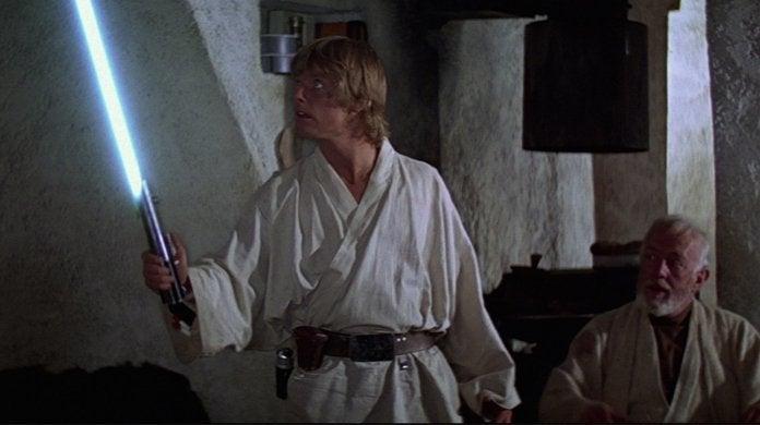 star wars luke skywalker obi wan kenobi lightsaber