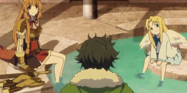 Exclusive 'The Rising of the Shield Hero' Clip Teases a Hot Springs Trip
