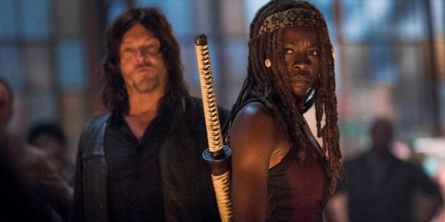 The Walking Dead Michonne Daryl
