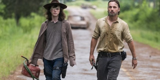The Walking Dead Rick Grimes Carl Grimes