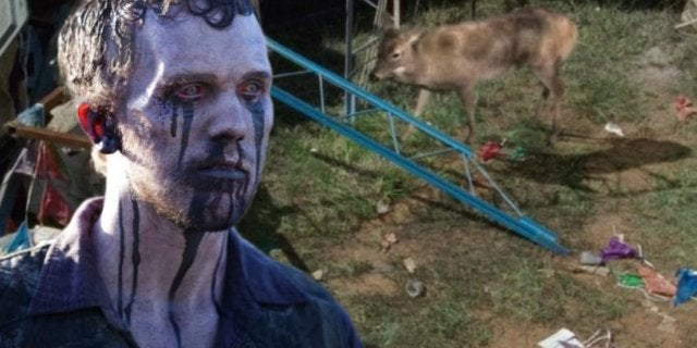 The Walking Dead zombie deer
