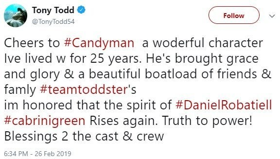 tony todd new candyman reboot comments