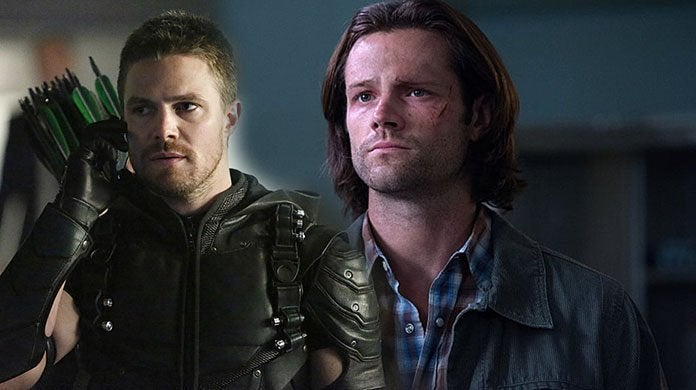 arrow stephen amell supernatural jared padalecki