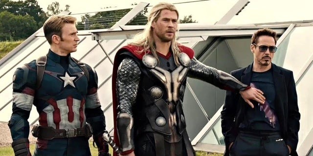 avengers age of ultron cap iron man thor