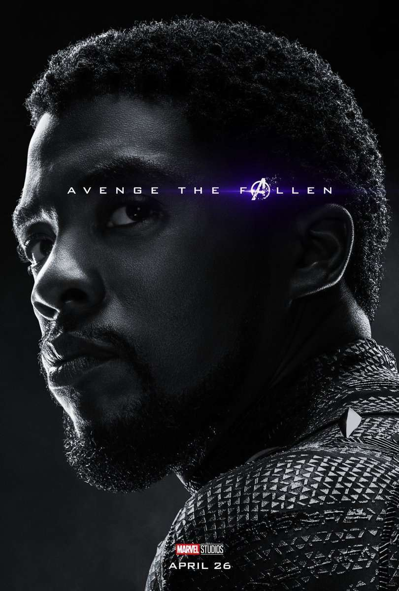 Avengers Endgame Posters Dead Characters - Black Panther