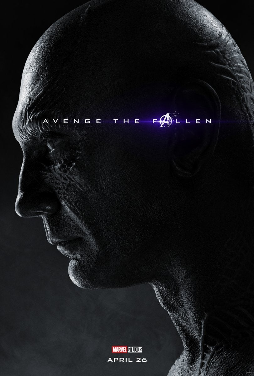 Avengers Endgame Posters Dead Characters - Drax