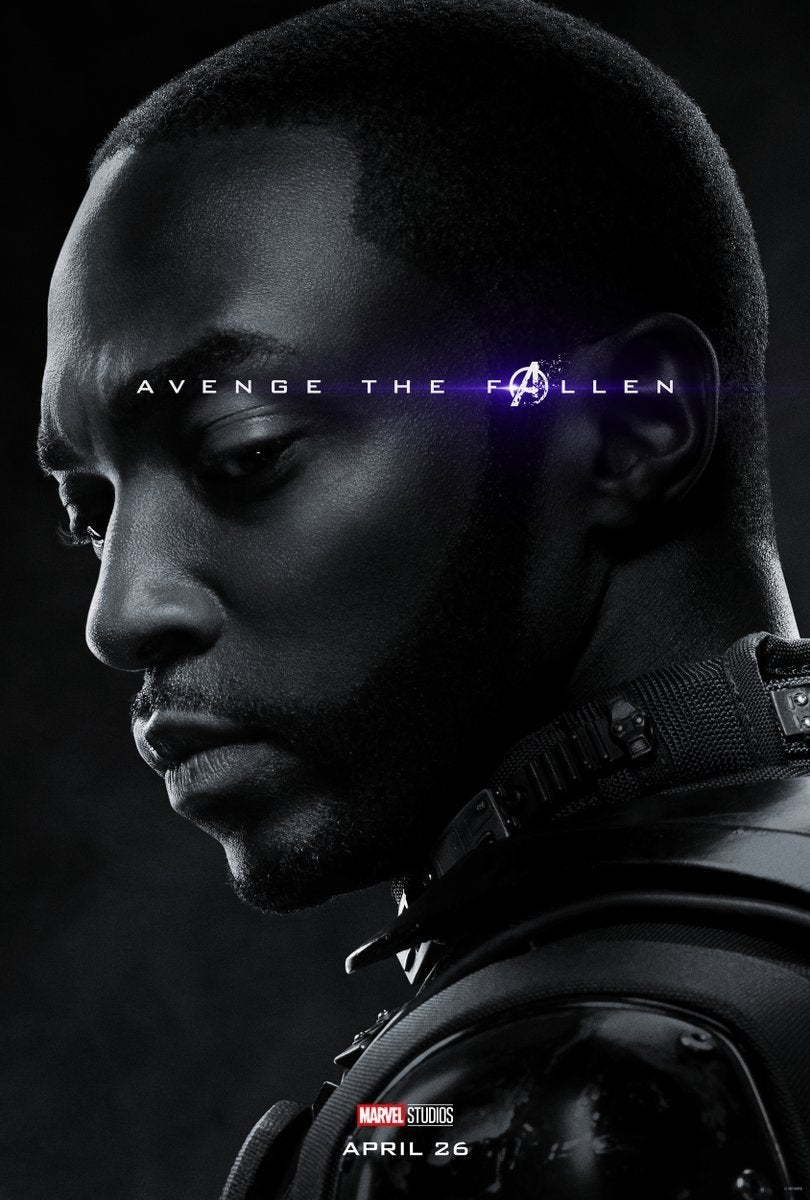 Avengers Endgame Posters Dead Characters - Falcon