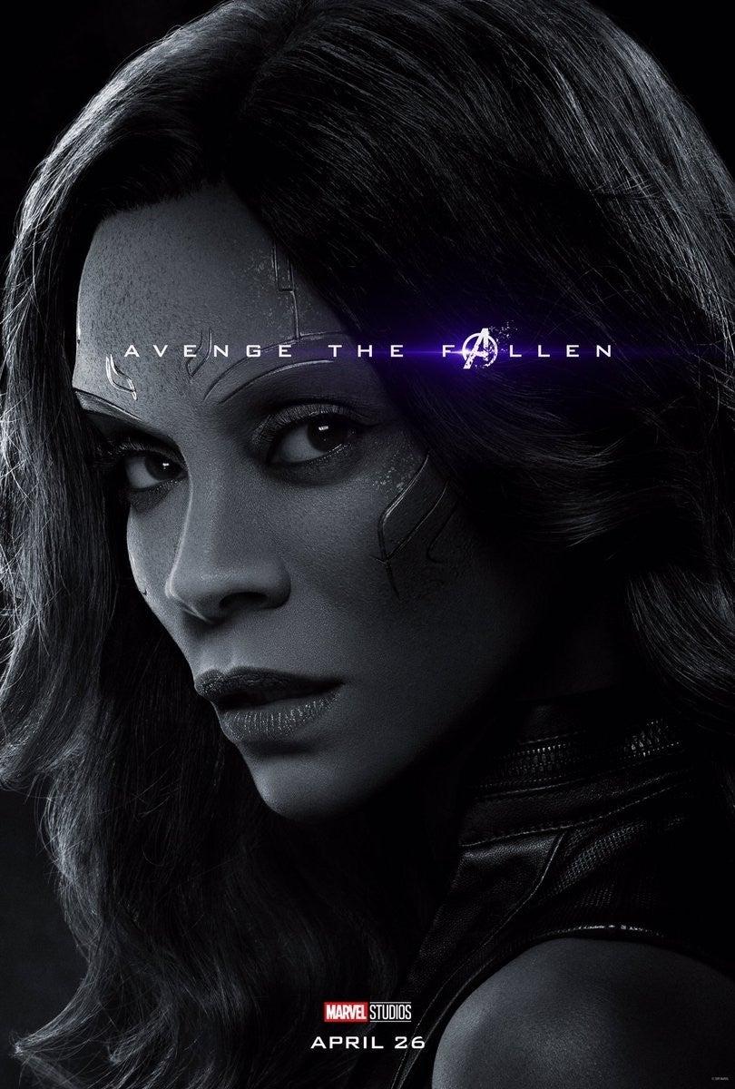 Avengers Endgame Posters Dead Characters - Gamora