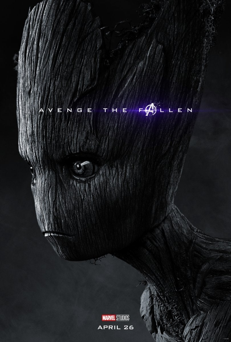 Avengers Endgame Posters Dead Characters - Groot