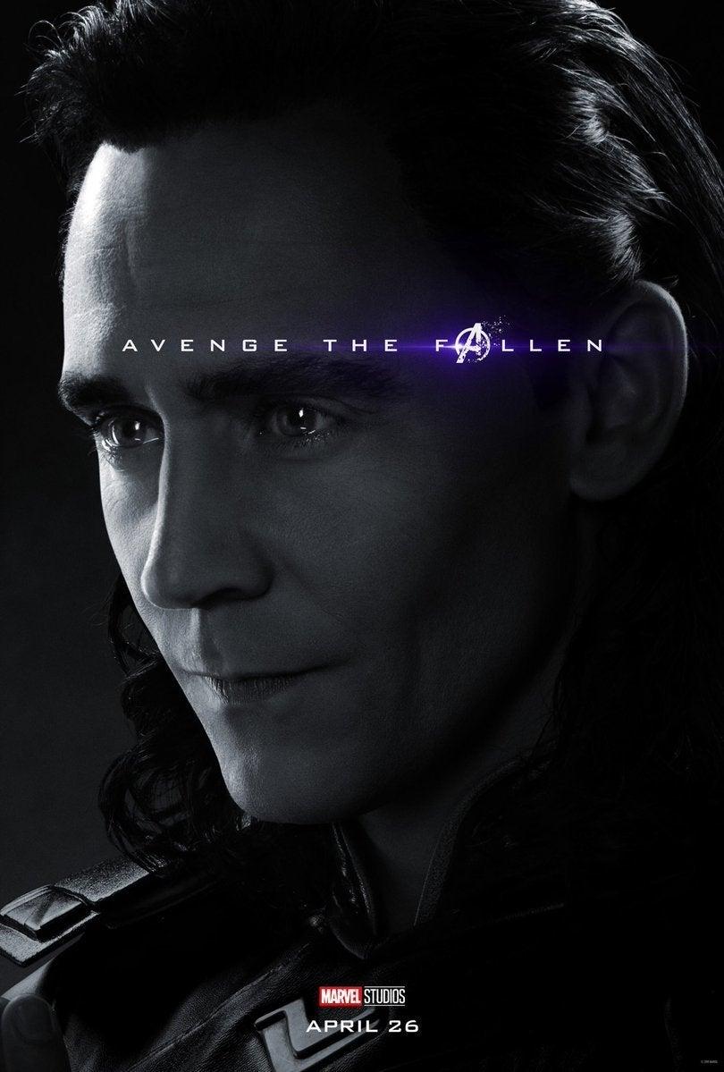Avengers Endgame Posters Dead Characters - Loki