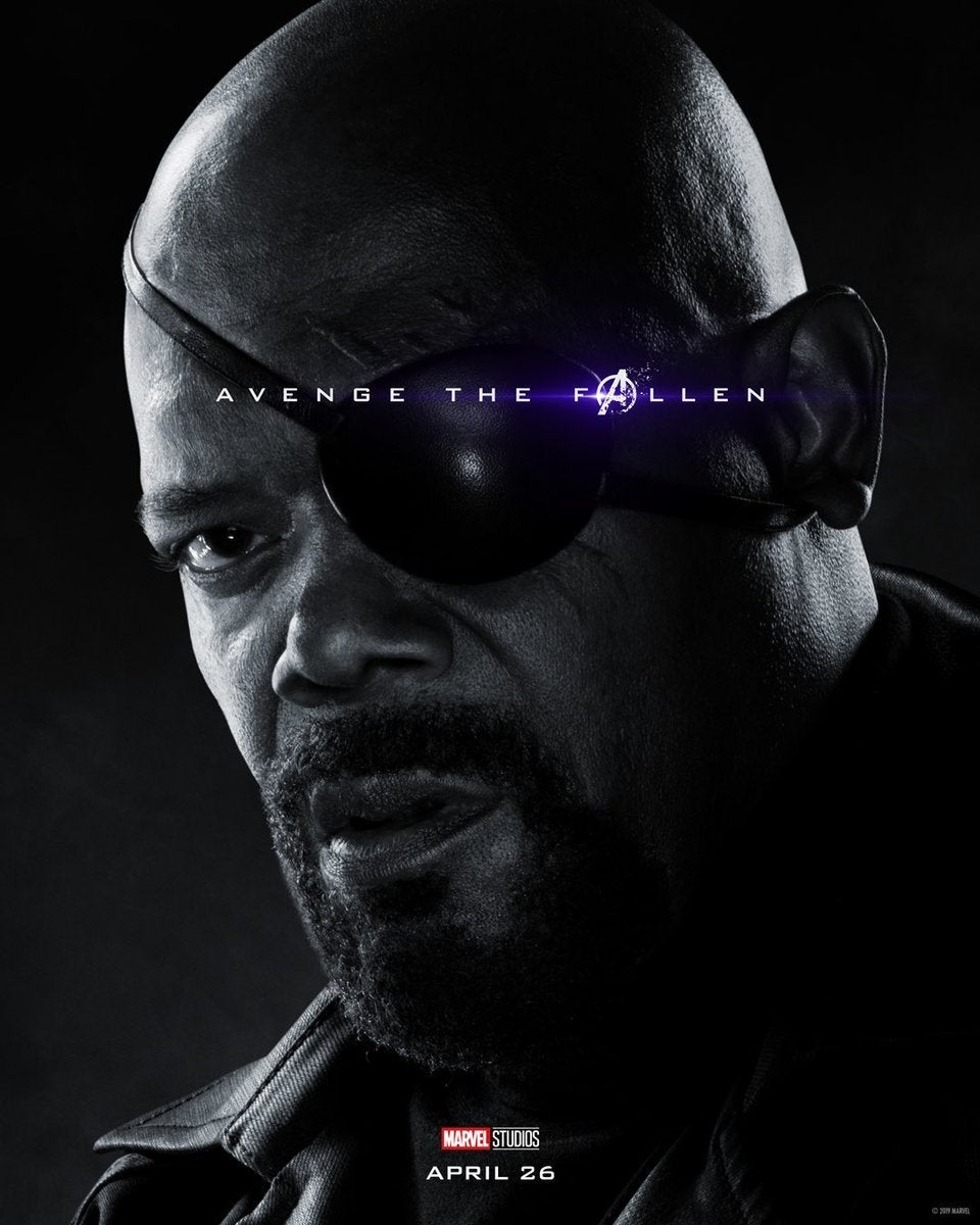 Avengers Endgame Posters Dead Characters - Nick Fury