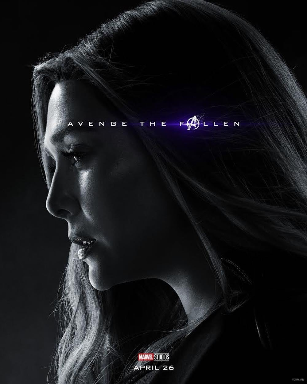 Avengers Endgame Posters Dead Characters - Scarlet Witch