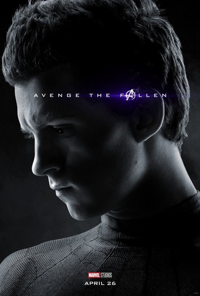 Avengers Endgame Posters Dead Characters - Spider-Man
