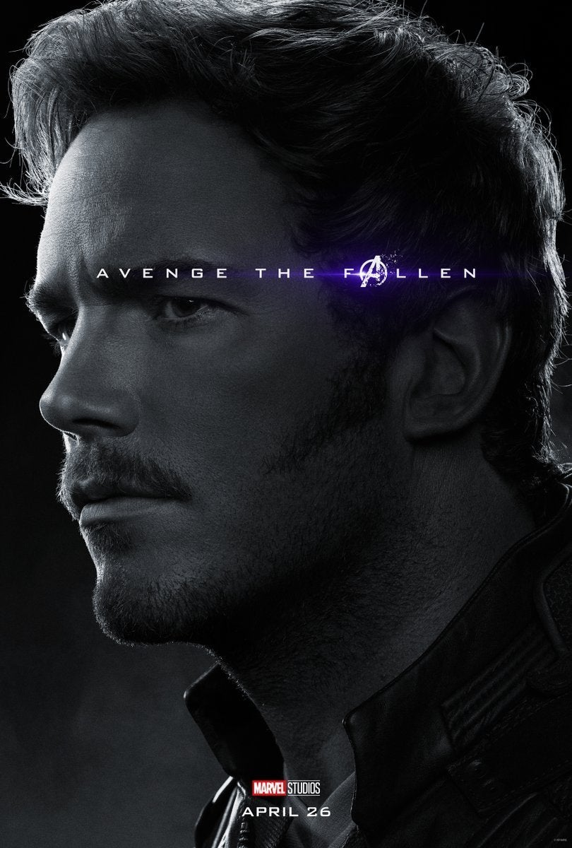 Avengers Endgame Posters Dead Characters - Star-Lord